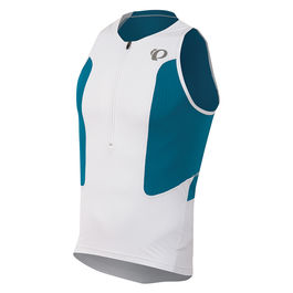 WHITE SLEEVELESS JERSEY SELECT / BLUE