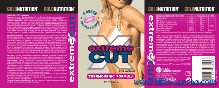 Gold Nutrition Extrem Cut WOMAN