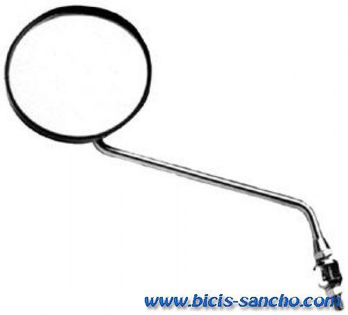 Espejo con abrazadera redondo negro bicis sancho for Espejo redondo negro