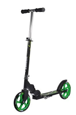"City Scooter Hornet Alu/Acero 8"" H205 verde neon 205mm"